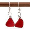 This is the EXACT pair of red sea glass earrings you will receive!