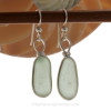 Long and lovely Seafoam Green Sea Glass Earrings in our Original Wire Bezel© setting in Solid Sterling Silver.