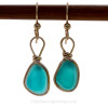 This is the EXACT pair of English End Of Day Sea Glass Earrings you will receive!