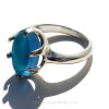 In natural sunlight this  Sea Glass Ring just glows! Hard to catch the color of this ring. It is truly amazing!