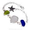 A custom made sea glass bracelet using Customer Supplied Sea Glass.