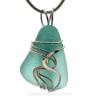A stunning thick and vivid Genuine Sea Glass Jewelry piece