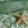 Many seafoam green sea glass pieces started out as Coke bottles. Drank on hot summer beaches and tossed into the sea.