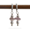 These are the EXACT pair of Purple Sea Glass Earrings you will receive!