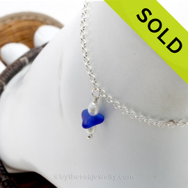 SOLD - Sorry this Sea Glass Ankle Bracelet  is NO LONGER AVAILABLE!