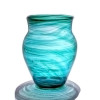 This sea glass glass has been certified to have once been a remnant of a James & Hartley Streaky vase similar to the one pictured here.