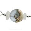 A detail of this EXACT Sea Glass Bangle Bracelet.
