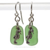 This is the EXACT pair of sea glass earrings you will receive!