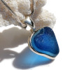 A picture of this Sea Glass Pendant in sunlight