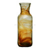 This is a late 1800's Hartley Wood Amber Streaky vase, the certified source of this amazing sea glass.