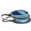 The side view shows you the thickness of this Genuine Sea Glass Jewelry piece.