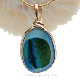 Color me Wonderful - Super Ultra Rare 3+ Color Seaham Sea Glass Multi in our Original Wire Bezel© Pendant Setting.
