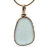 This is the EXACT piece of soft aqua Sea Glass Jewelry you will receive!