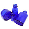 Many over the counter medicines in the USA used cobalt blue glass for packaging. After the 1960's, plastic was used. Products like Vicks Vapor Rub, Noxzema, Phillips Milk Of Magnesia and Bromo Seltzer were but a few.