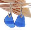 This is the EXACT pair of Blue Sea Glass earrings that you will receive!