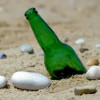 Most sea glass pieces of this color originate as beer or soda bottles discarded on the beach.