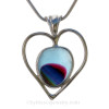 A super Ultra Rare rainbow of colors in this Green  natural sea glass heart set in our deluxe wire bezel pendant setting!  A great gift for Valentines and your favorite wine and beach lover!