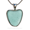 A perfect natural sea glass heart necklace great for any sea glass lover!