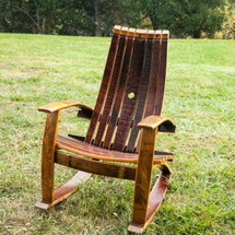 Adirondack rocking chair with high quality cover made especially for the chairs. Helps protect the finish during the off-season.