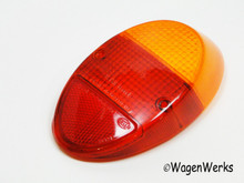 Tail Light Lens - Bug 1962 to 1967 - Amber Top Hella