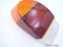 Tail Light Lens - Bug 1971 to 1972 - Amber Top - Right