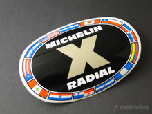 Vintage Racing Sticker - Michelin Radial 1973