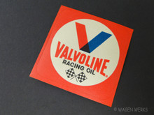 Vintage Gasser Sticker - Valvoline Racing Oil 1970s