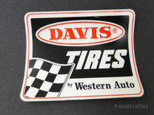 Vintage Gasser Sticker - Davis Tires by Western Auto 1972