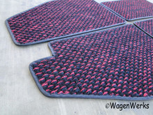 Coco Mats - Bug 1950 to 1957 Red/ Black