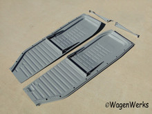 Floor Pans - Bug 1958 to 1970 - H/D 18 gauge (1.2mm) steel - Wolfsburg West