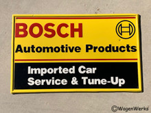 Vintage Bosch Sign - 25x15 Original Porsche VW Mercedes