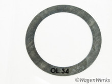 Flywheel End Play Shim - .34mm - 1300cc 1500cc 1600cc