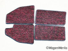 Coco Mats - Bug 1958 to 1959 Red/ Black