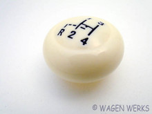 Shift Knob - 1968 to 1974 Karmann Ghia 12mm Ivory Pattern
