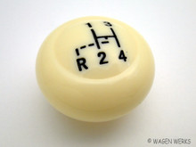 Shift Knob -Bug  1962 to 1967 7mm Ivory Pattern