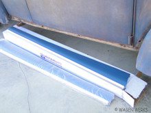 Running Boards w/Wide Molding - Satin Blue Bug to 1966