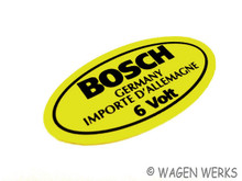 Ignition Coil Sticker - 6 volt Bosch