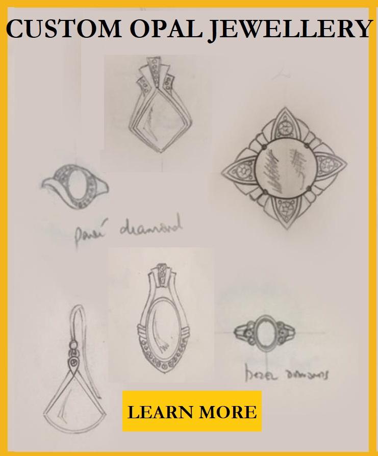 Hand crafted custom opal jewellery