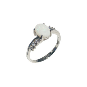 ALWAYS LOVING STERLING SILVER WHITE OPAL RING