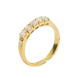 ETERNAL LASTING 18KT GOLD PLATED OPAL RING