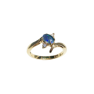 EASY TO LOVE ALSO 18KT GOLD PLATED OPAL RING