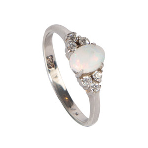 LOVE JOY STERLING SILVER OPAL RING