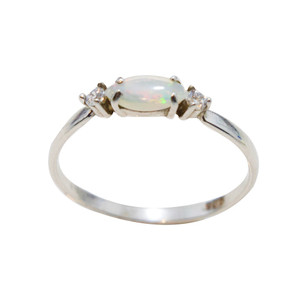 SINCERE LOVE STERLING SILVER OPAL RING