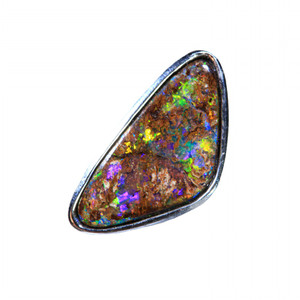 LASTING BEAUTY SINGLE OPAL STUD IN STERLING SILVER