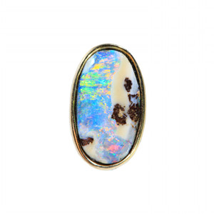 HIDDEN LOVE SINGLE OPAL STUD IN 18kt GOLD