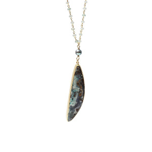 PURE RUN OPAL & AMETHYST NECKLACE