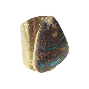 FOREST CREEK FLASH OPAL RING