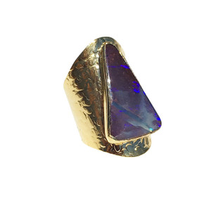 MYSTERIOUS PYRAMID OPAL RING