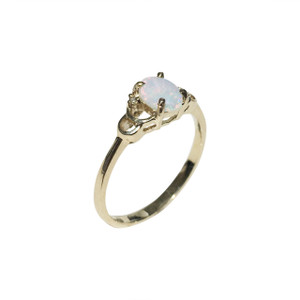 OPAL IN CHAINS 9kt GOLD & DIAMOND OPAL RING