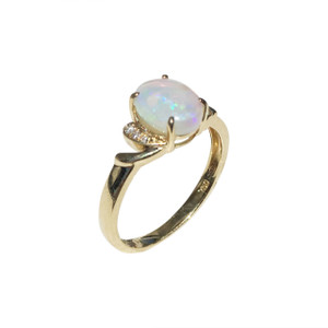 OPAL FANTASY 18kt GOLD AND DIAMOND OPAL RING